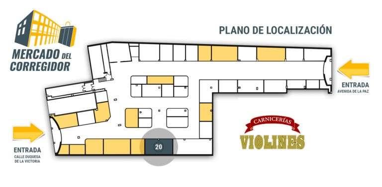 Plano 20 Carnicería Violines