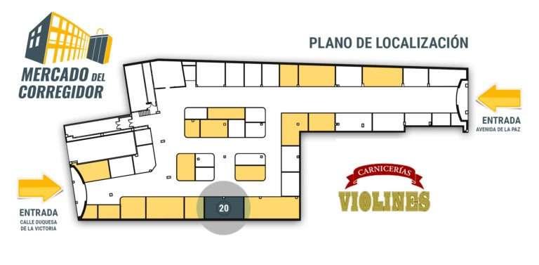 Plano 20 Carnicería Violines en Logroño