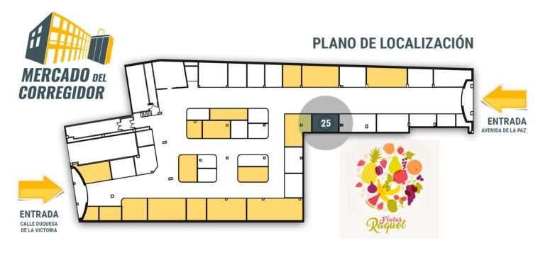 Plano 25 Frutas Raquel en Logroño
